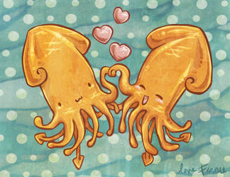 Charity Print: SquidLove by guava