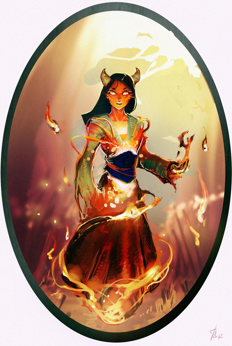 Disney Elementals Mulan by CeruleanRaven