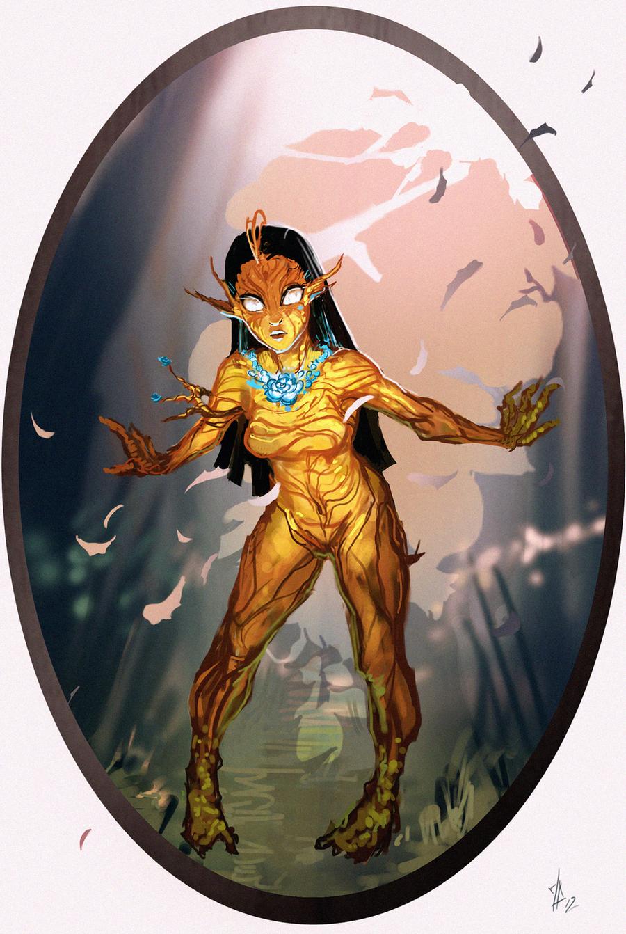 Disney Elementals Pocahontas by CeruleanRaven
