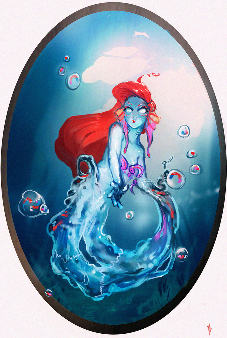 Disney Elementals Ariel by CeruleanRaven