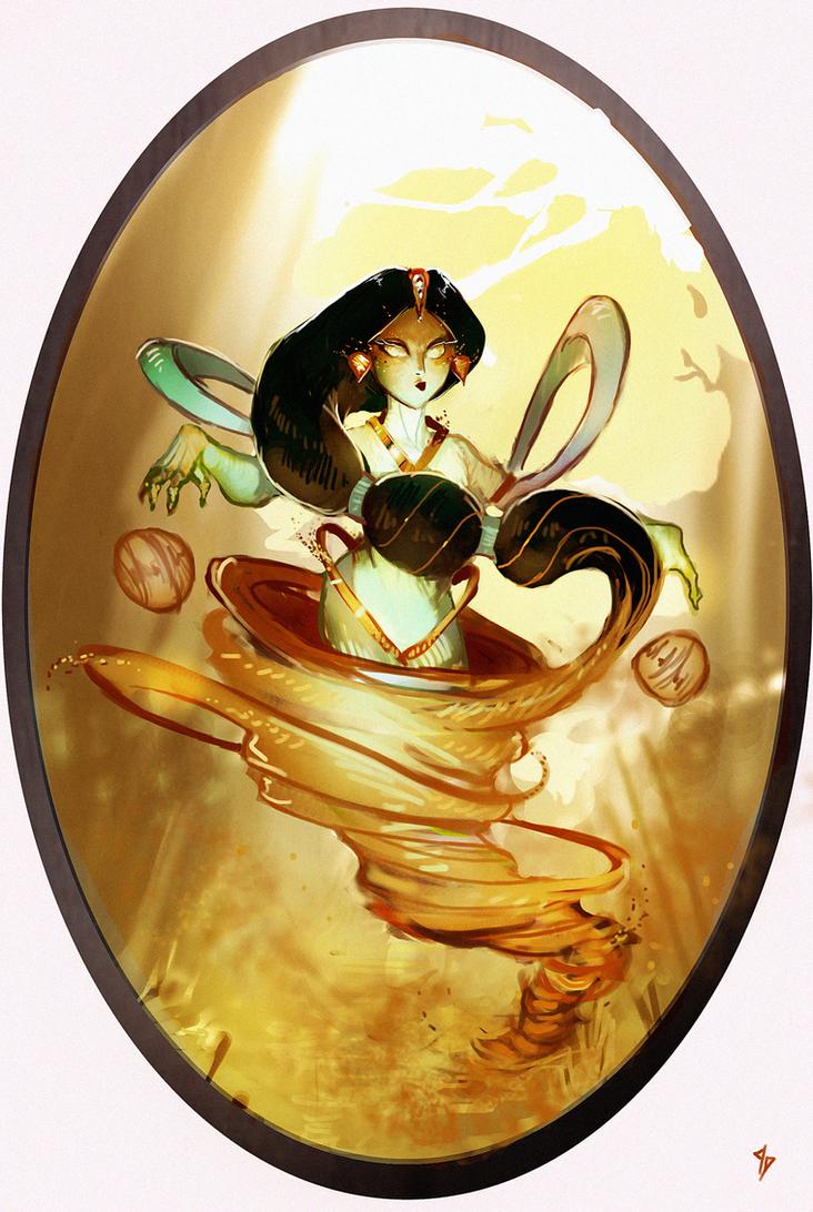 Disney Elementals Jasmine by CeruleanRaven