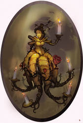 Disney Elementals Belle by CeruleanRaven