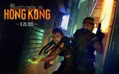 Shadowrun: Hong Kong by CeruleanRaven