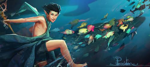 Poseidon by CeruleanRaven