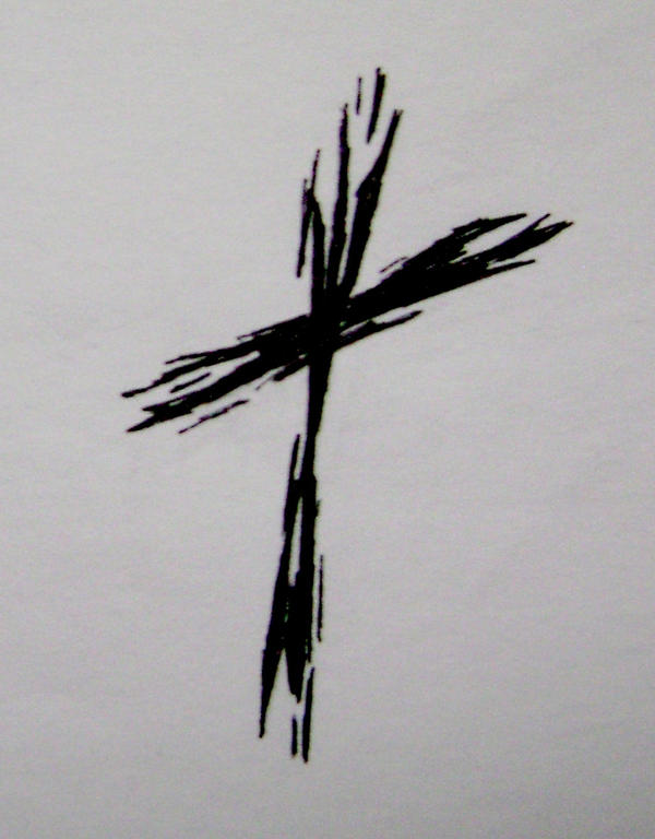 Rough Cross Tattoo by typowilliams