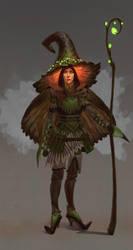 Forest witch by JuJuRili