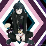 Sad Smol Shuichi (Collab with SoftGolde) by CuteKiwiKitty