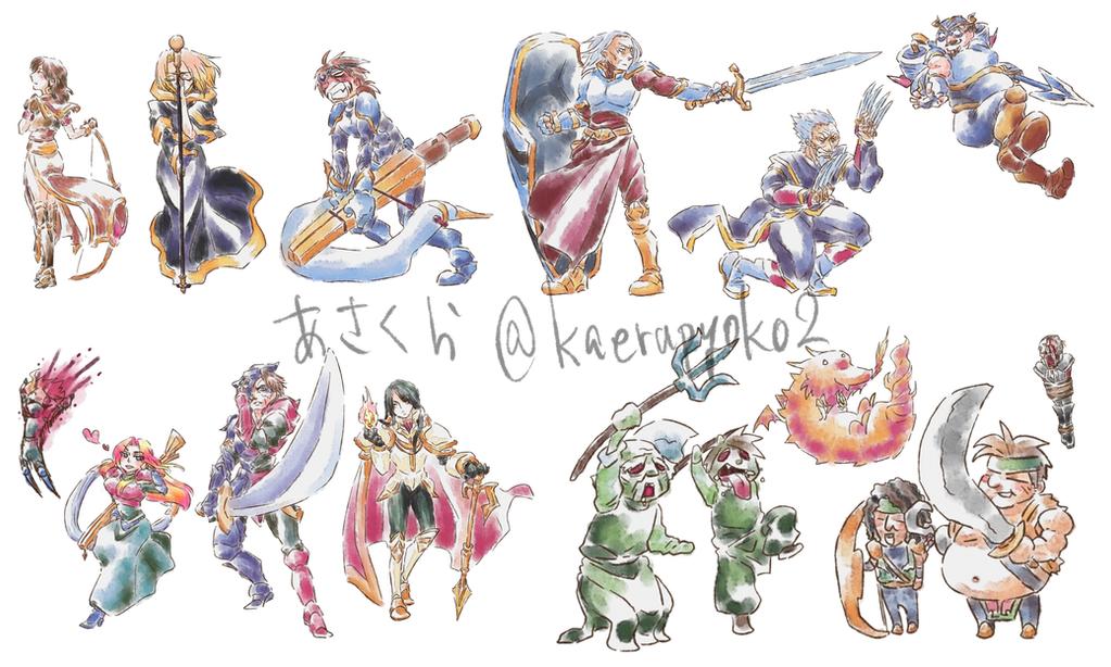 Vandal Hearts Characters by kaerupyoko2