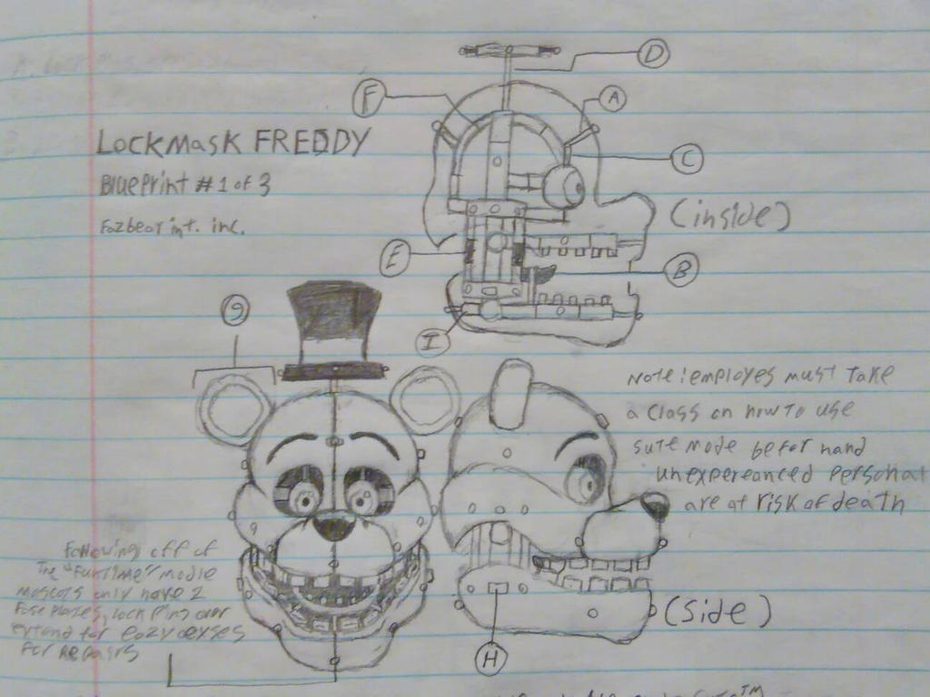 Lockmask freddy blueprint 1 of 3 by springtrap mask on deviantart lockmask freddy blueprint 1 of 3 by springtrap mask malvernweather Choice Image