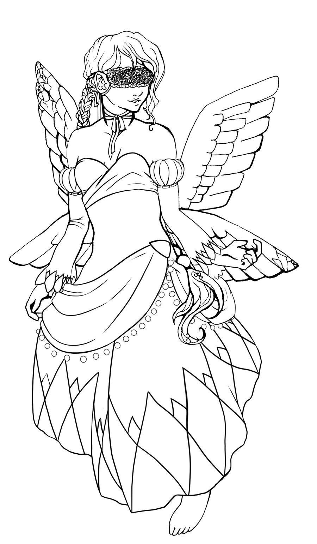 ishtar coloring page by kurotorasempai on deviantart