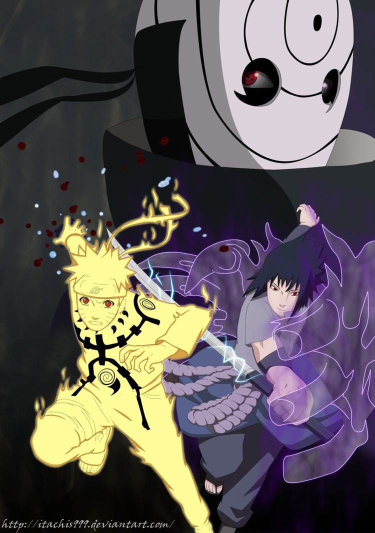 Naruto vs Sasuke by Itachis999