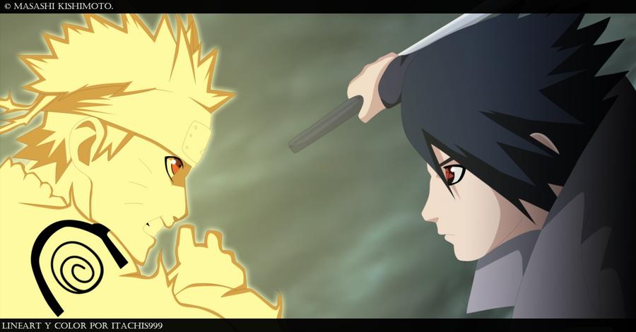 naruto kyuubi vs sasuke - photo #1