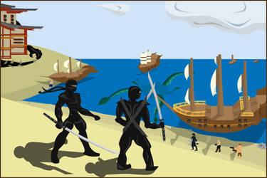 Pirates vs. Ninjas by youroblivion