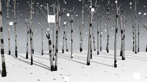 Aspens in the Snow