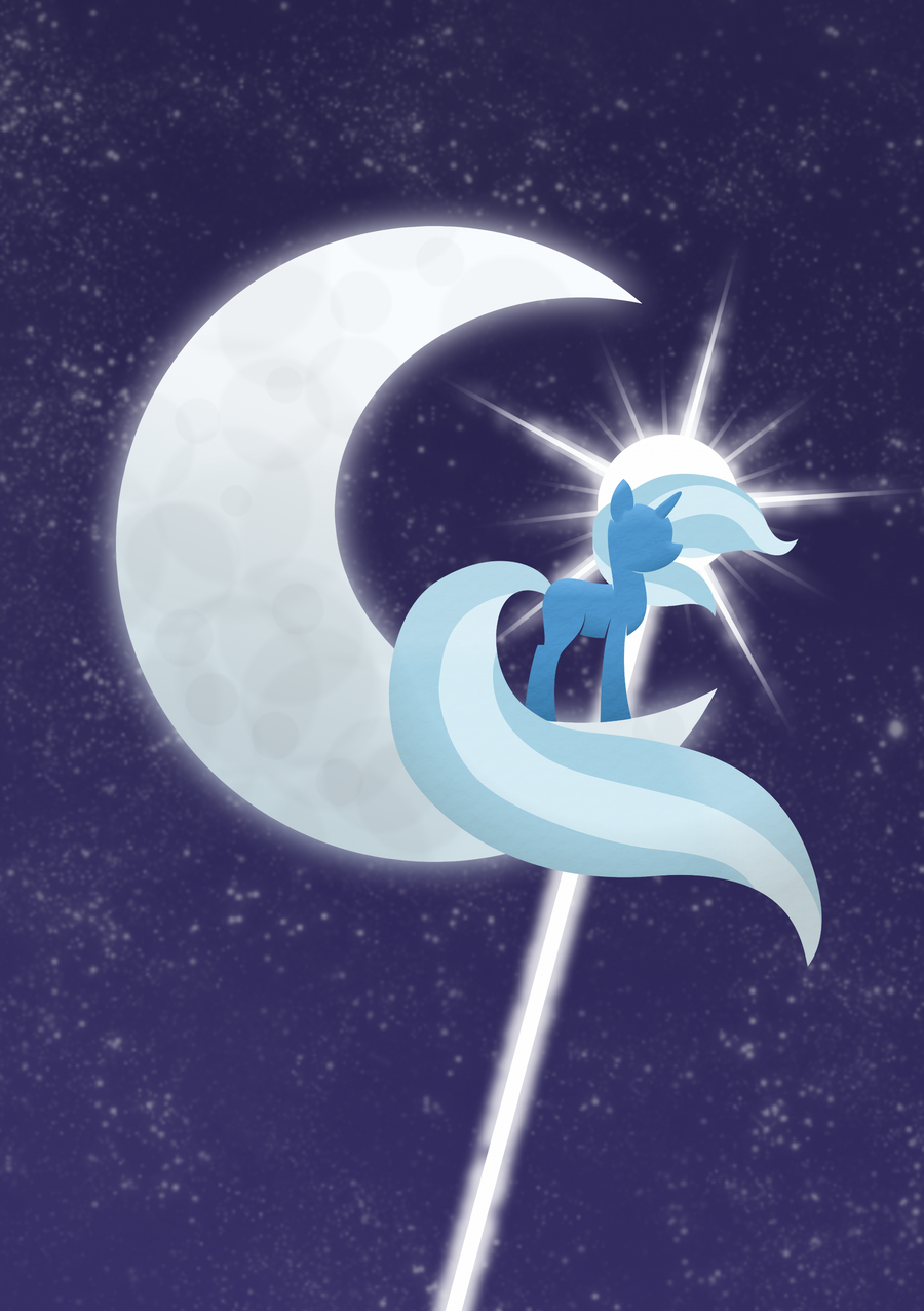 Trixie On The Moon by TopGull