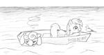 Lyra At Sea (and Bon Bon)