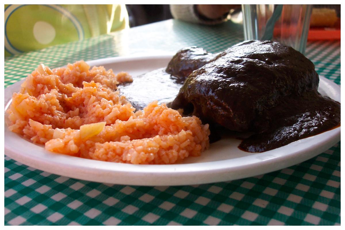 Pollo con Mole y Arroz by mclaranium