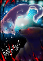 Off-White Light Through Darkness by FleshCreature