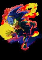 Sonic the hedgehog -stamp