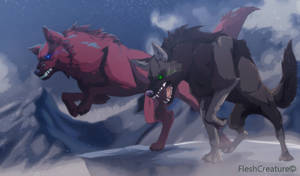 Kinchil and Sahkil _Wolves