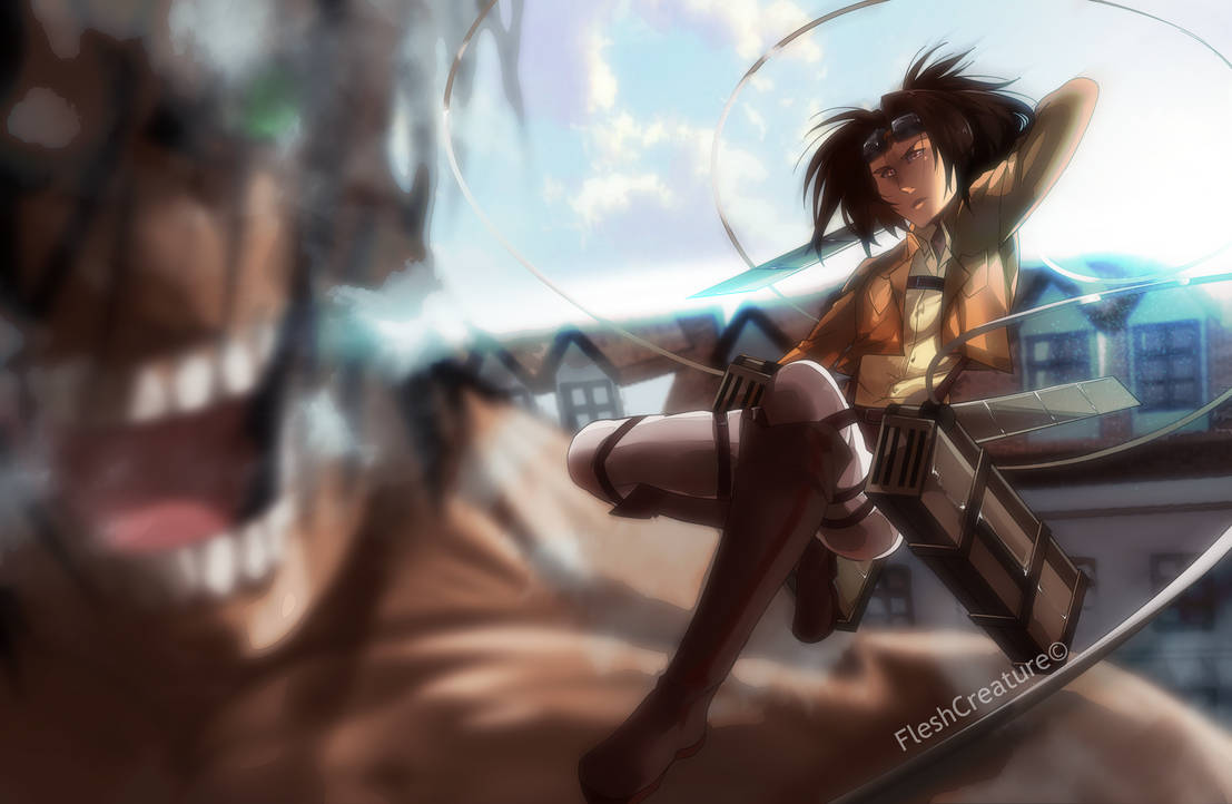 Hange Zoe Attack On Titan By Fleshcreature On Deviantart