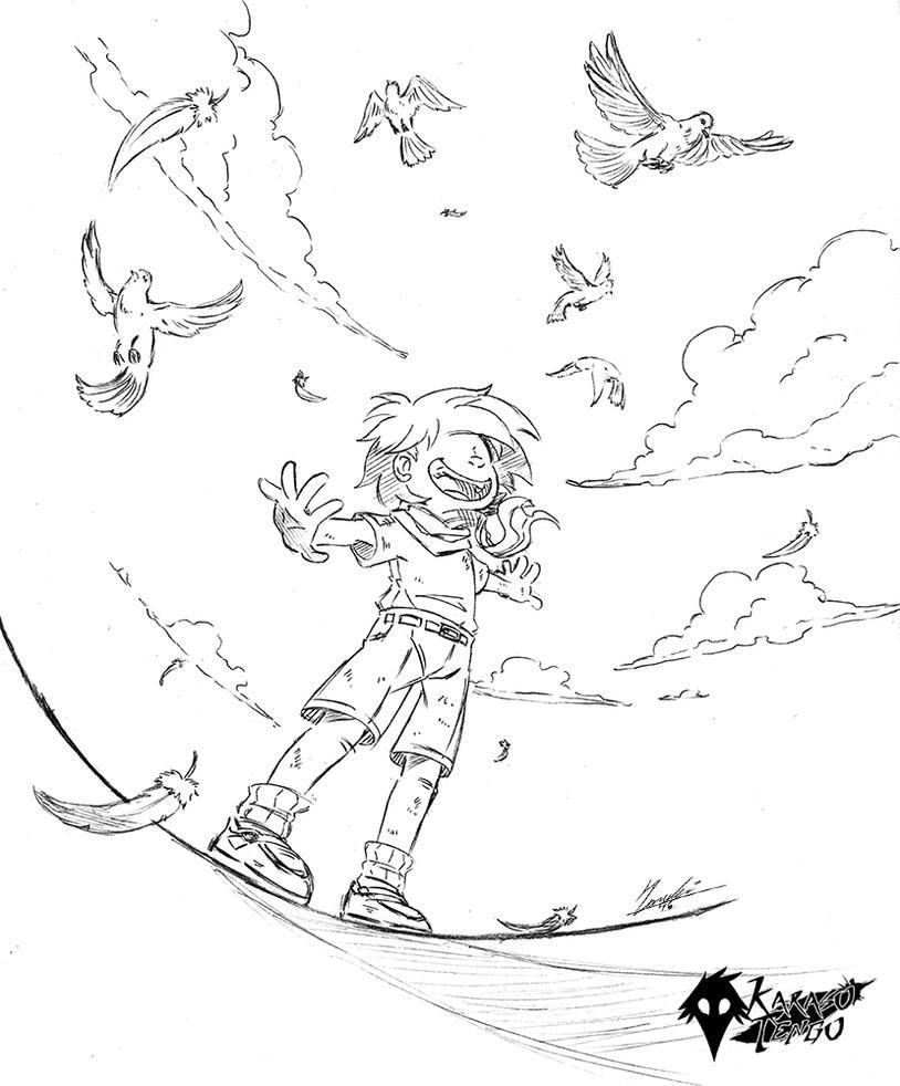 Flying by KarasuTenguProyectos