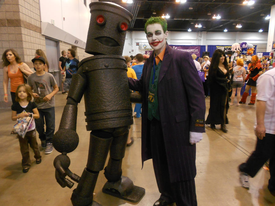 Humping Robot and Joker by Etrigan423