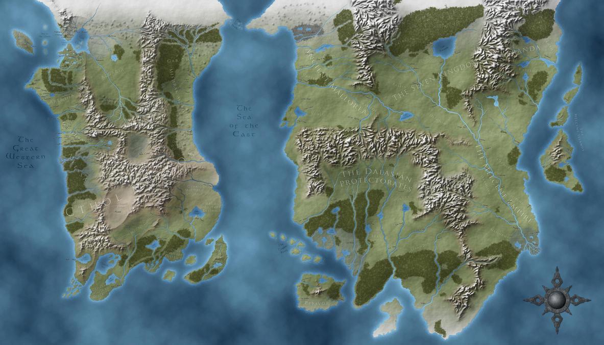 Belgariad-Mallorean World Map by Gidde