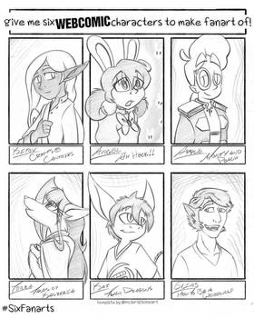 Six Fanarts - Webcomics Ed. [04.10.20 to 04.14.20]