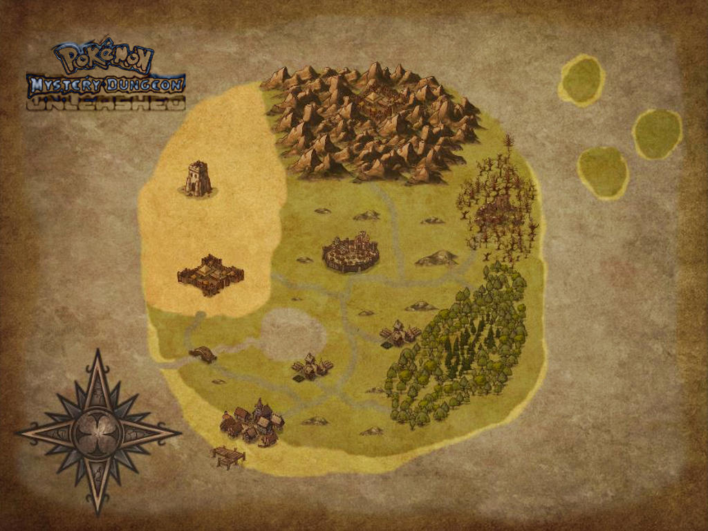 [PMD-UL] Map of Primordia (Blank) by MarioMinecraftMix