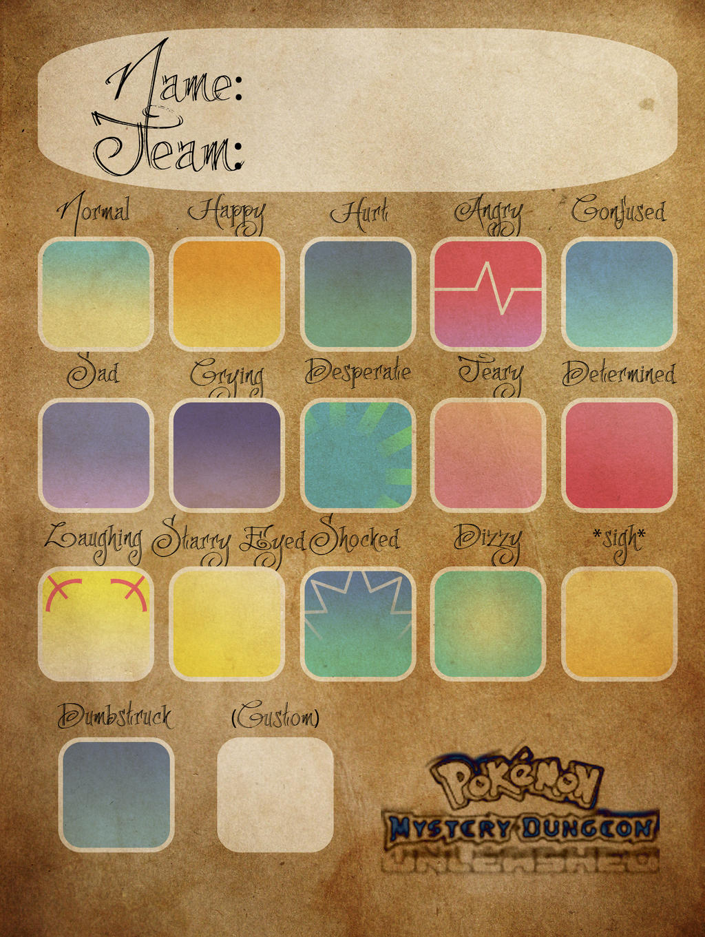 [PMD-UL] Character Expression Template by MarioMinecraftMix