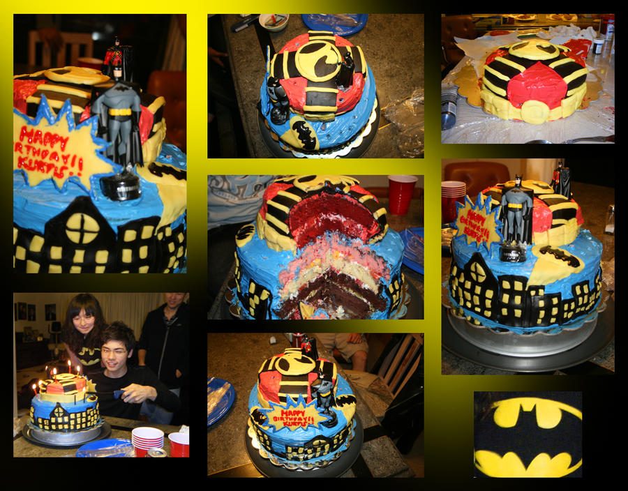 Batman And Red Robin Birthday Cake By Chr0nie On Deviantart