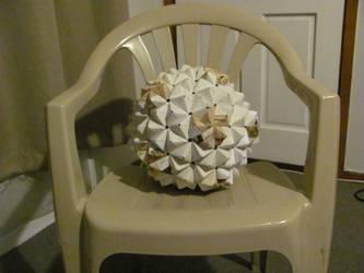 Origami buckyball by mystichuntress