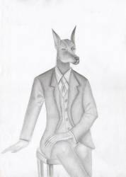 Anthro Dorbeman by anubis-kruger