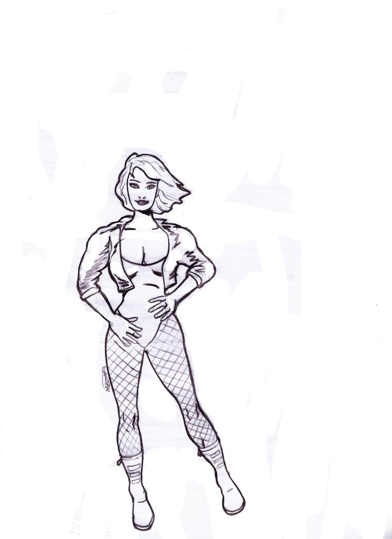 Dinah Black Canary by maironmatos