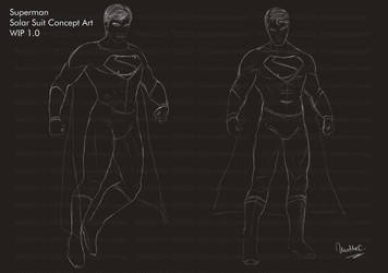 Superman Solar Suit - Lineart