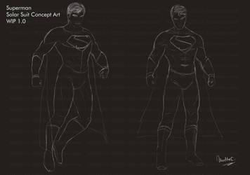 Superman Solar Suit - Lineart by maddiecristea