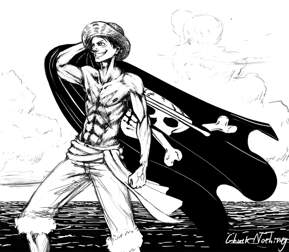 One Piece Luffy Black And White | www.imgkid.com - The ...
