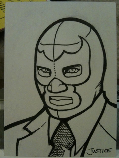 Blue Demon Jr Sketchcard By Guerrillasuit On Deviantart
