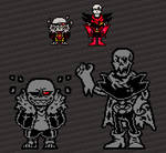 Canonfell Sans and papyrus