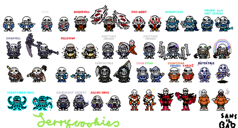 Sans Aus and some Papyruses with 1 Pose