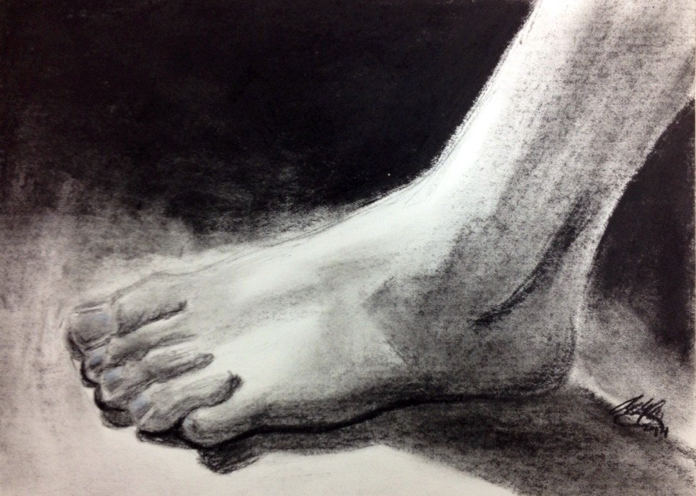 Charcoal Foot by FairyLoffy on DeviantArt