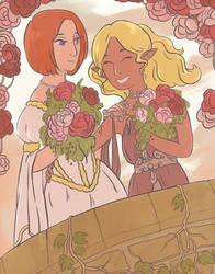 COMMISSION, DRAGON AGE - Leliana and Carys Surana by FairyLoffy