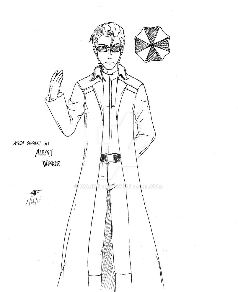 Aizen - Wesker Crossover by Xarante