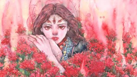 Enchantress in her garden by Penpilas