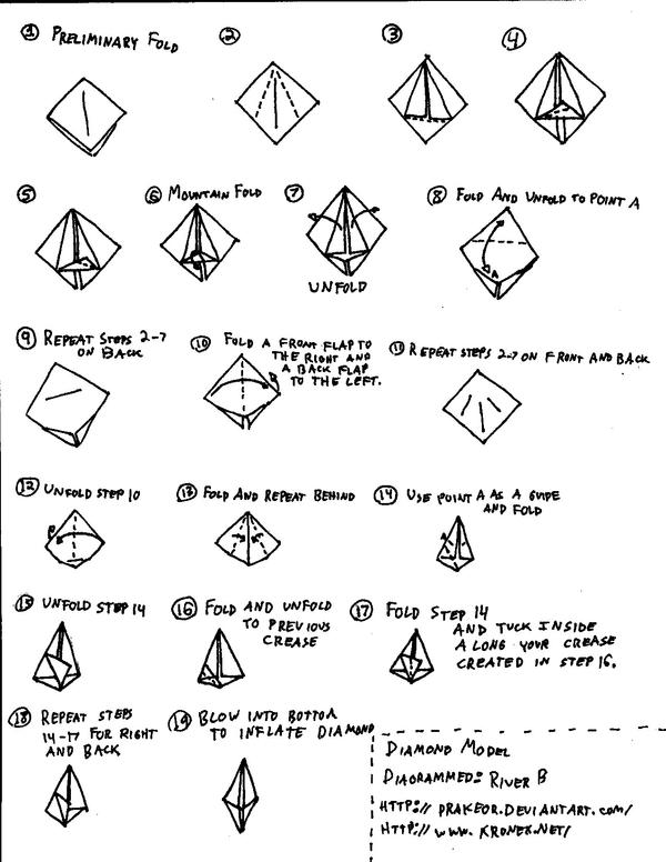 How To Make An Origami Diamond By Drakeor On Deviantart