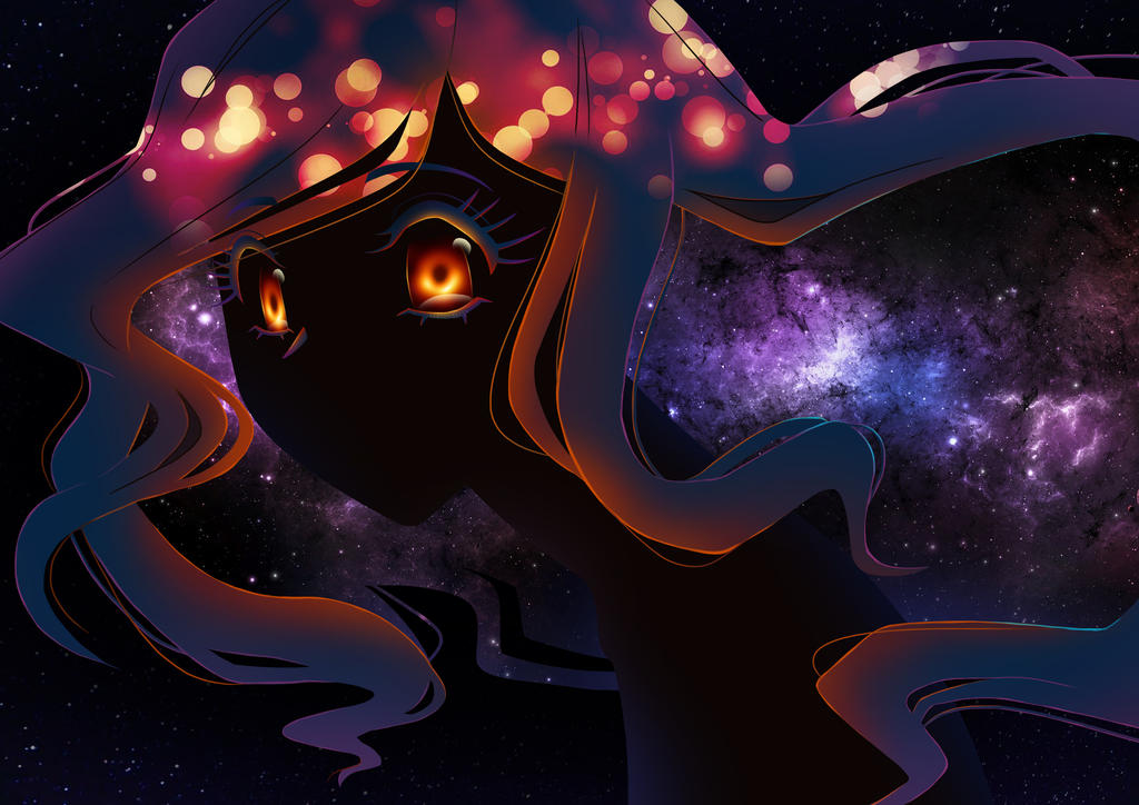 Black hole-chan says Hello~ by JamieDeJonge on DeviantArt