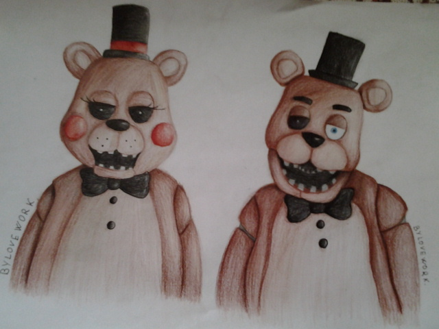 Old Freddy Toys : Toy freddy and old by loveworkpurpleman on deviantart