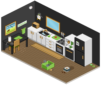 Kitchens and cats by Dakaido
