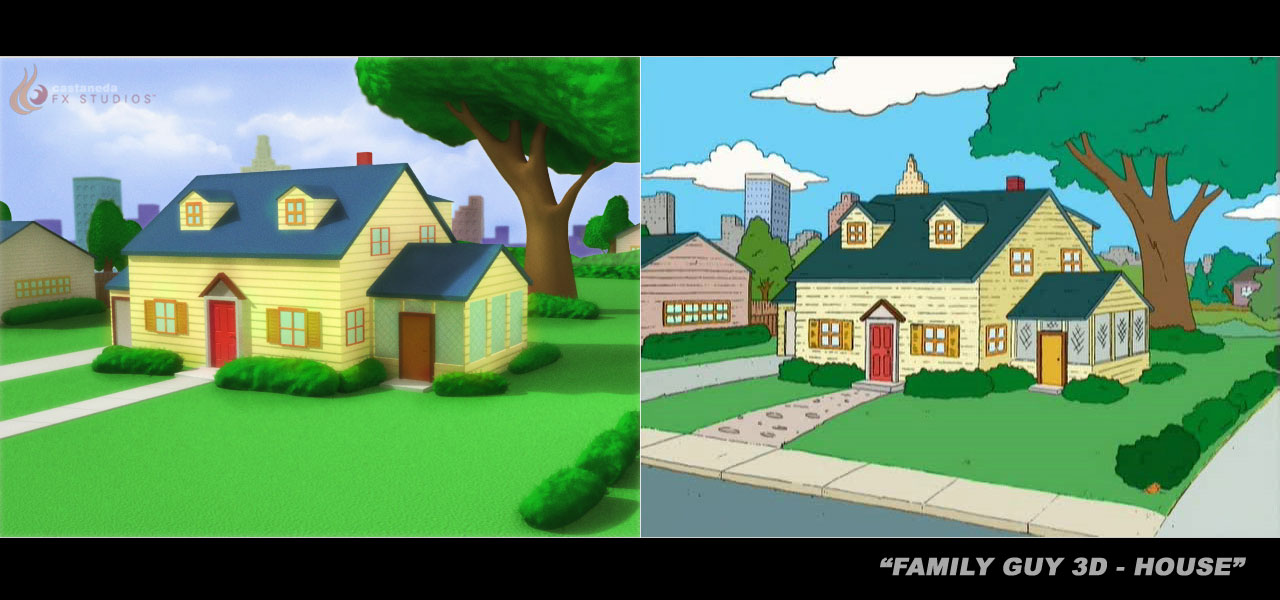 Family Guy House 3D Recreation by chris51888